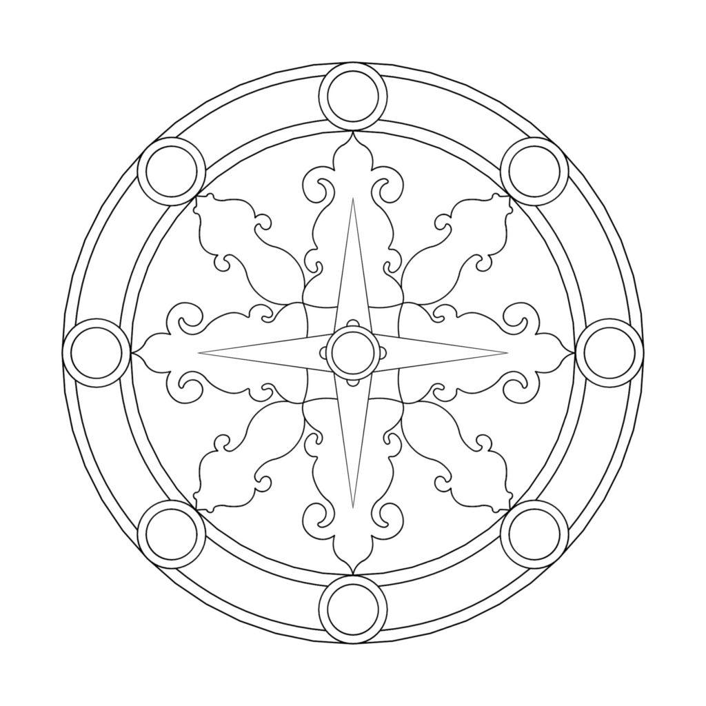 Stone Medallion Design Bussola Del Mondo ENSO