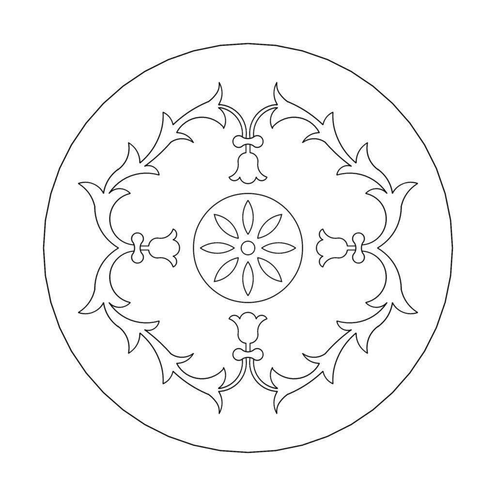 Stone Medallion Design Campanula Alliariifolia ENSO