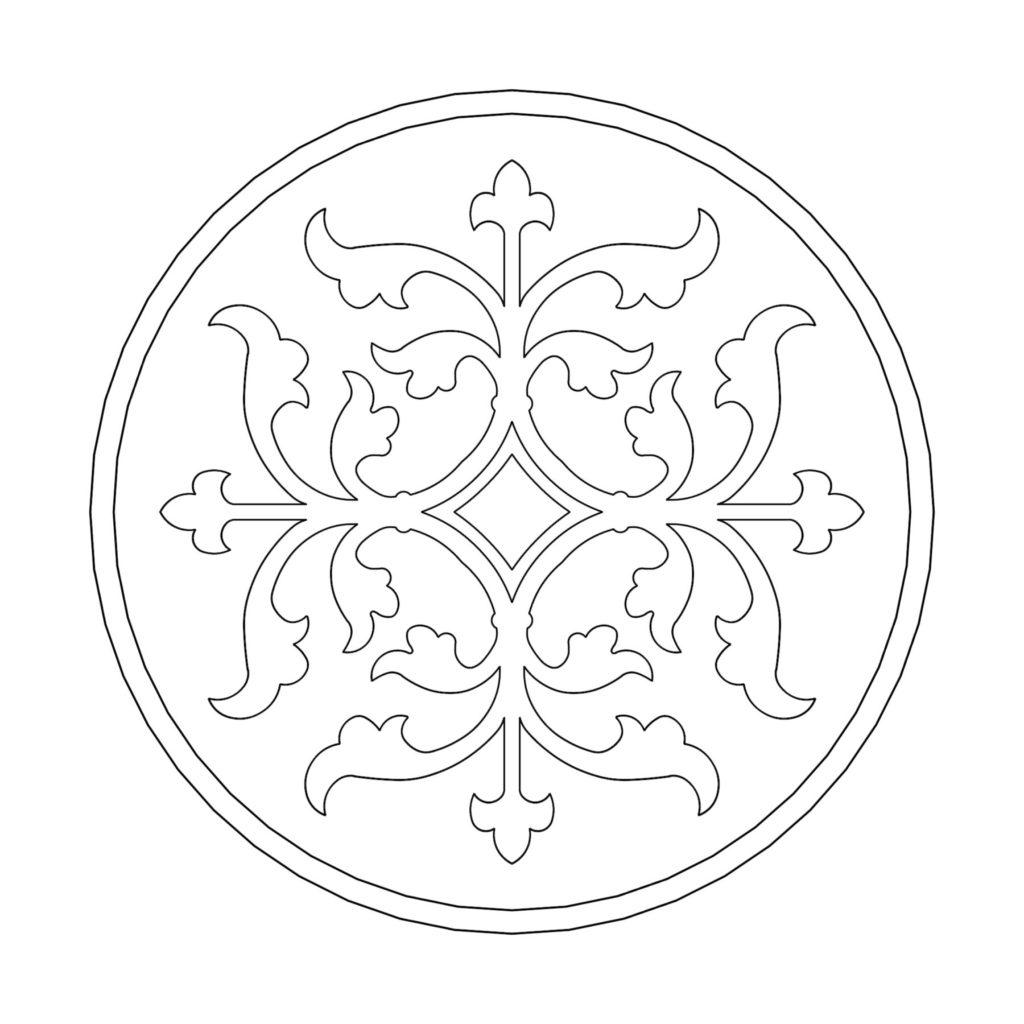 Stone Medallion Design Croix Royale ENSO