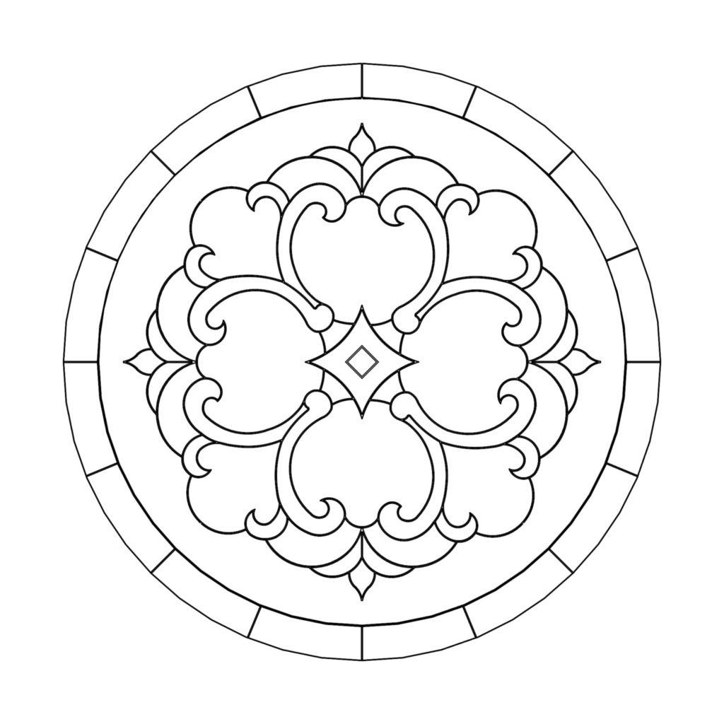Stone Medallion Design Etoile de la Rotonde ENSO