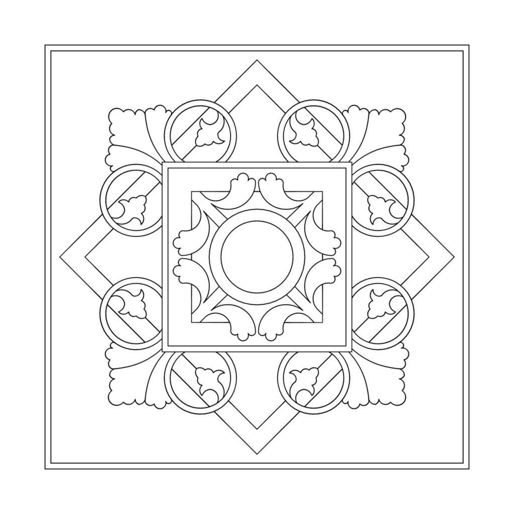 Stone Medallion Design Ferningur Blom ENSO