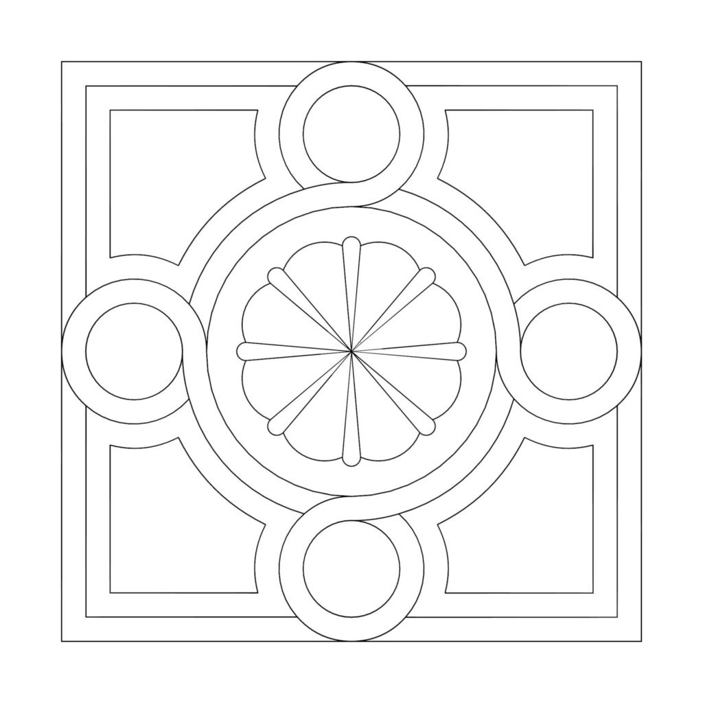 Stone Medallion Design Fleur Petite ENSO