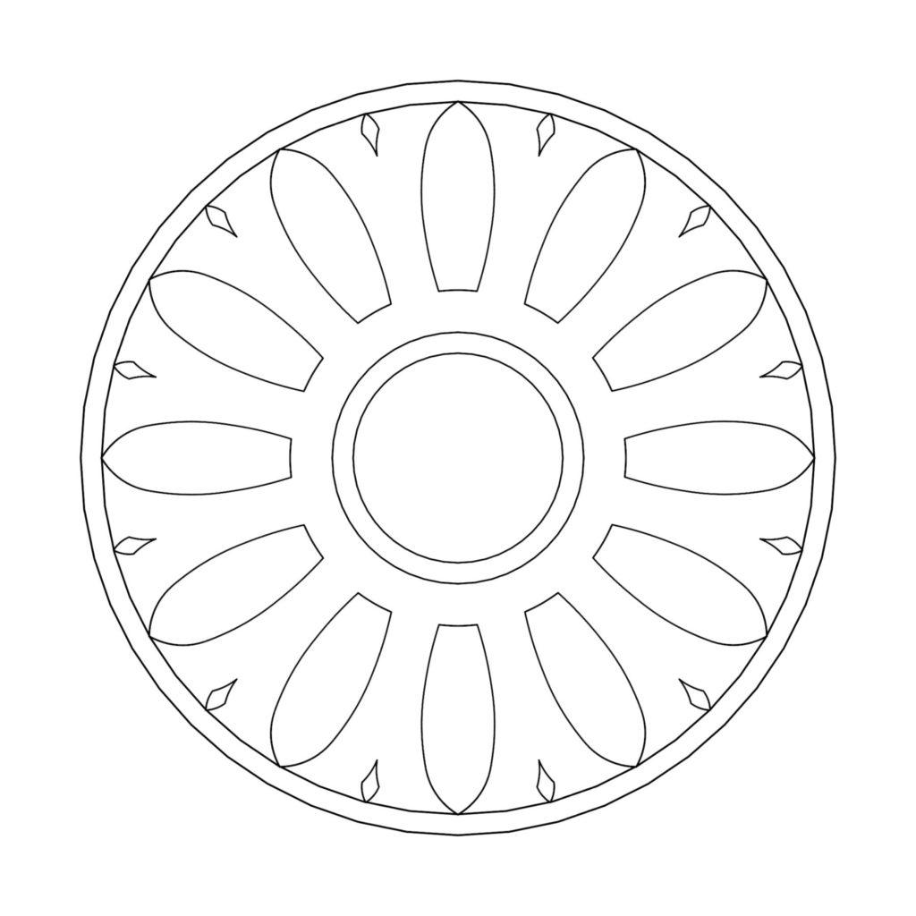 Stone Medallion Design Girasol ENSO