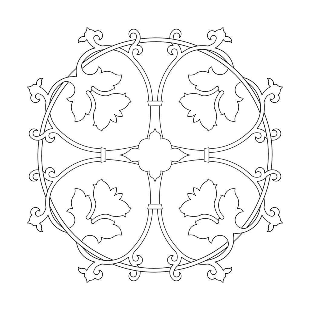 Stone Medallion Design Lotus ENSO