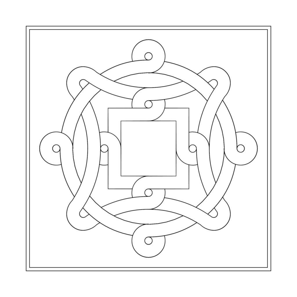 Stone Medallion Design Noeud de Meduse ENSO