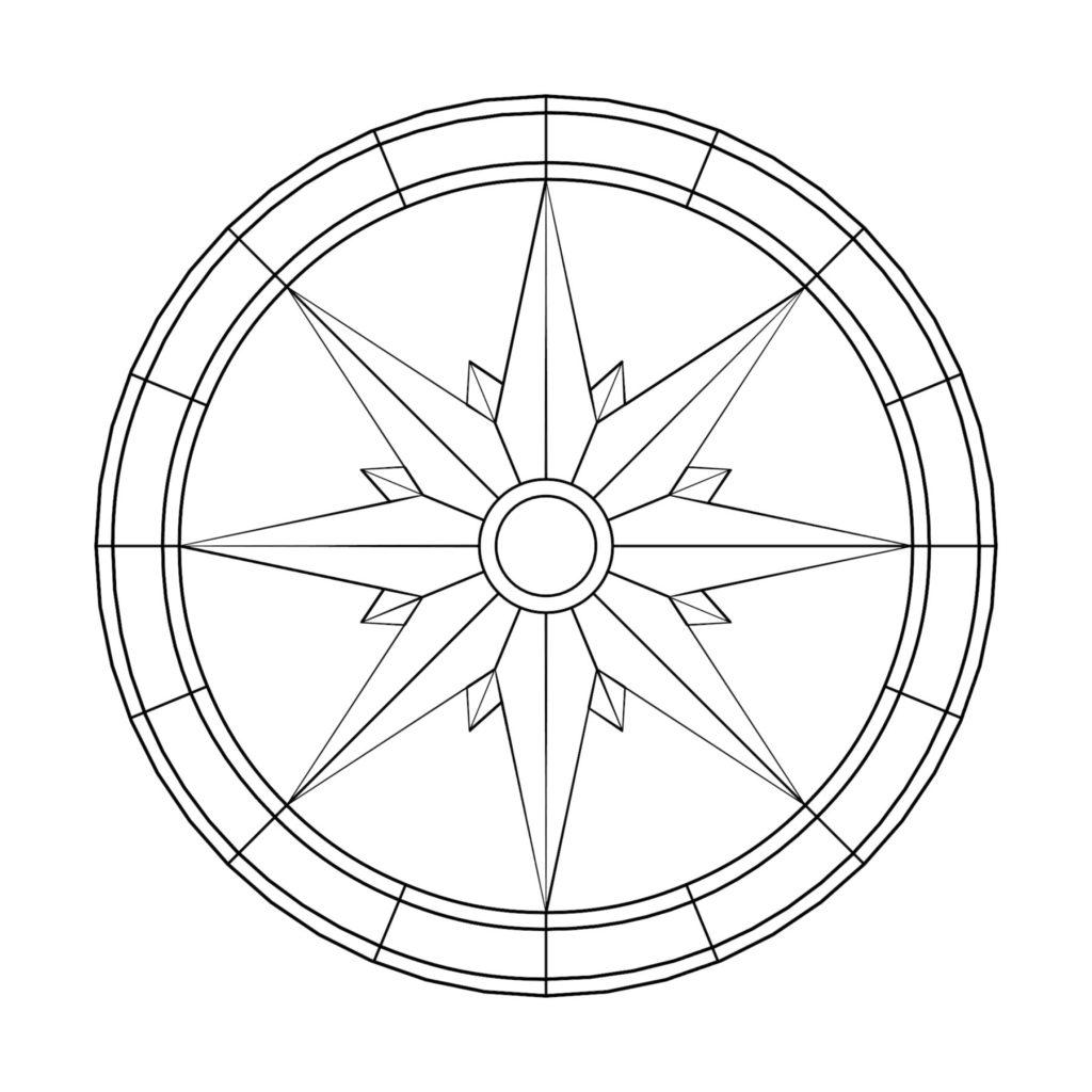 Stone Medallion Design Orbis Partem ENSO
