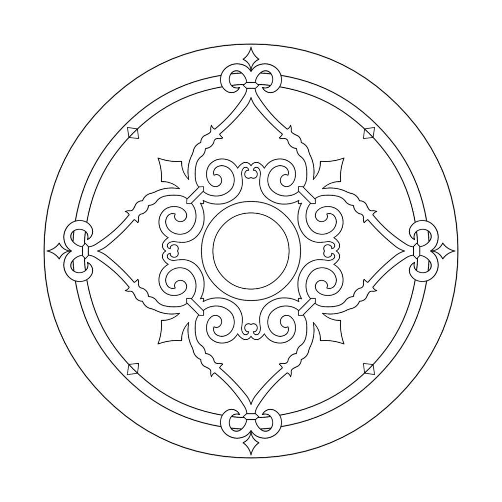 Stone Medallion Design Piel De Lis ENSO