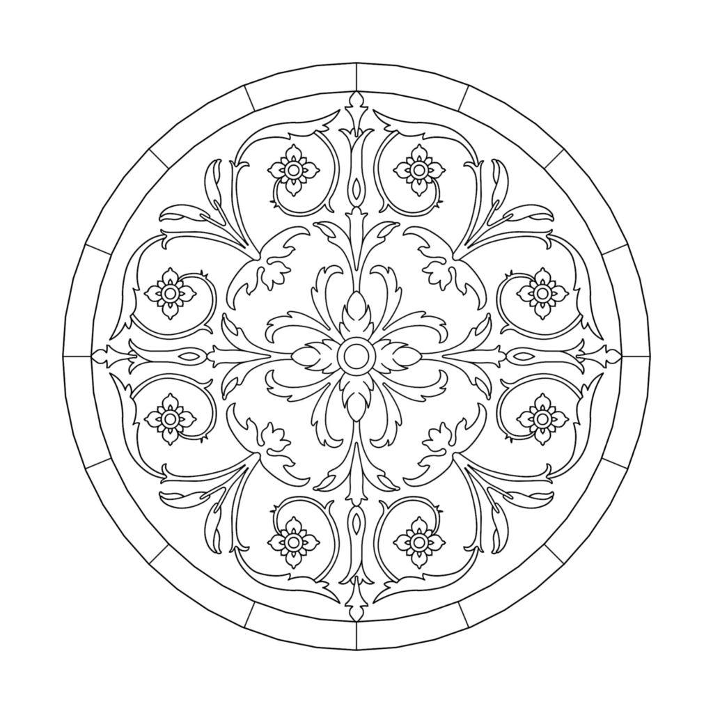 Stone Medallion Design Splendeur de la Vie ENSO