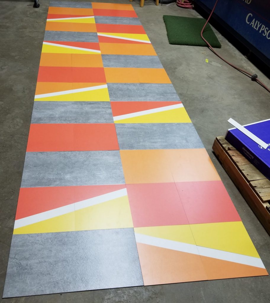 Custom Cut VCT Colorful Flooring Strip ENSO