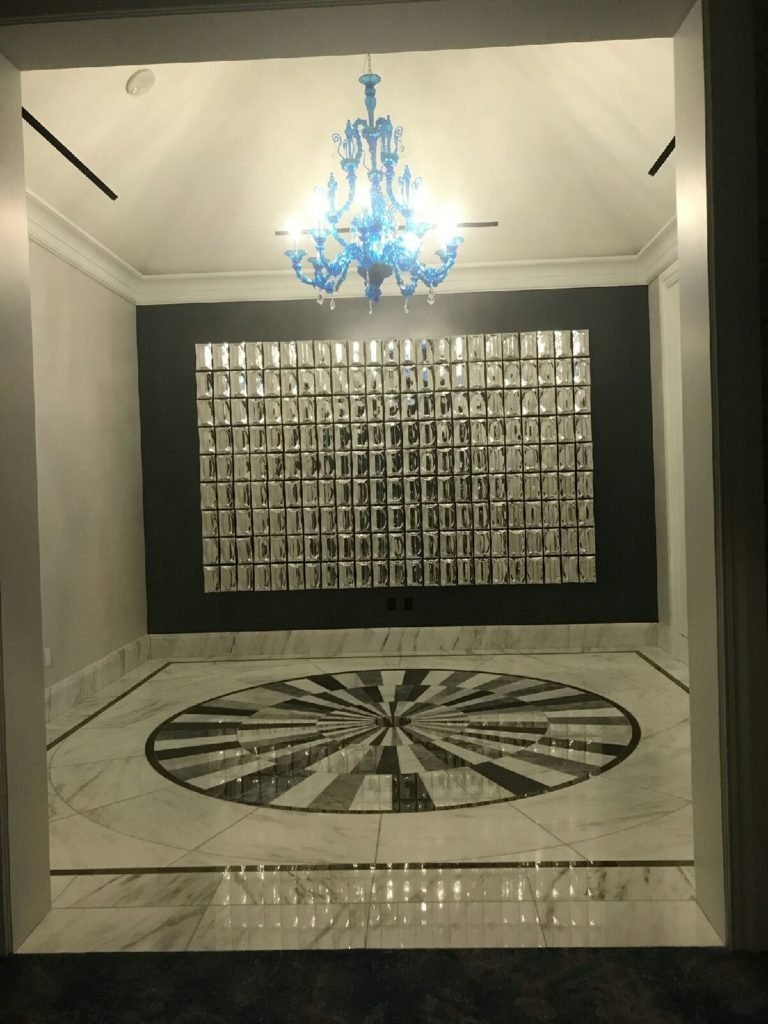 Custom Marble Medallion Ritz Carlton Dallas ENSO