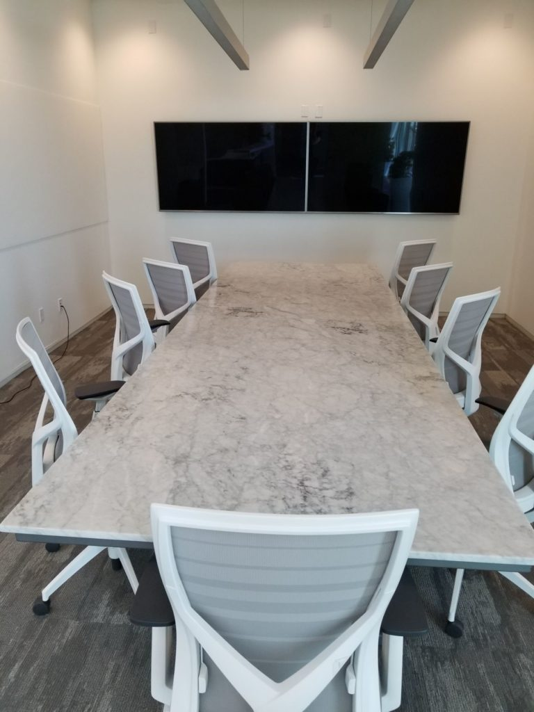 Custom Marble Metal Base Conference Table ENSO
