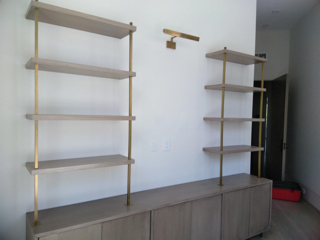Custom Metal and Wood Shelving ENSO