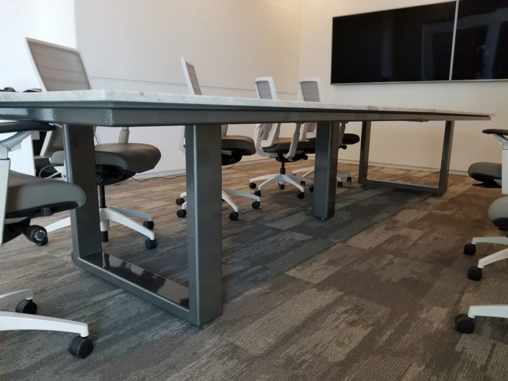 Custom Metal Conference Table Base ENSO