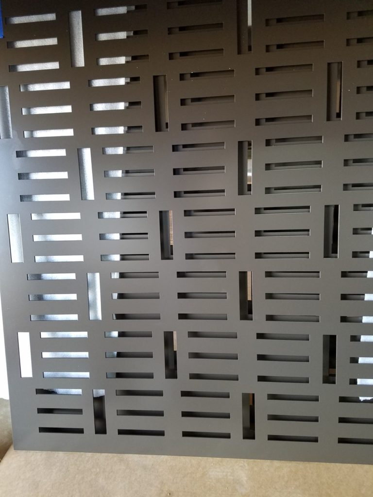 Decorative Metal Screen Contemporary Rectangles ENSO