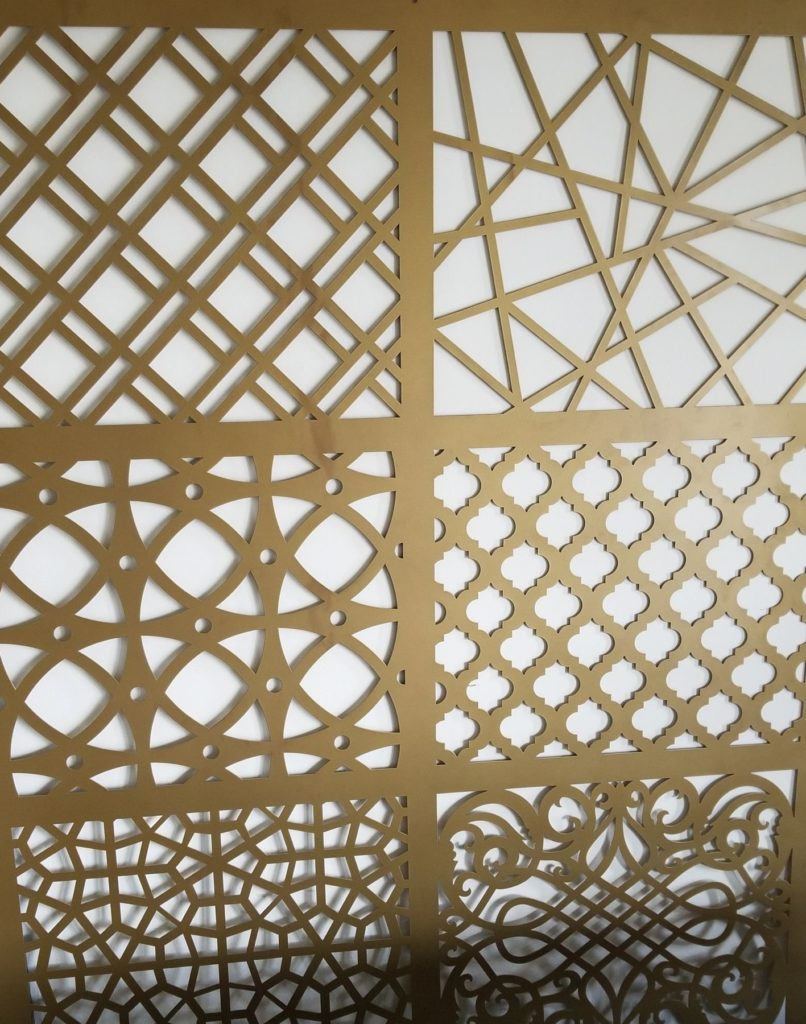Decorative Metal Screen Eclectic Combo Gold ENSO
