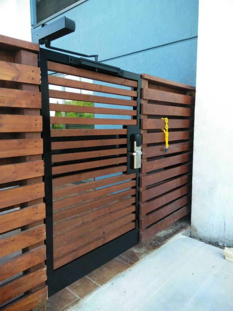 Custom Metal Wood Security Pool Gate ENSO