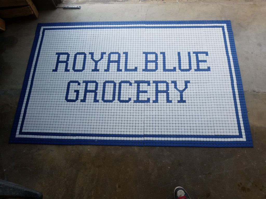 Custom Mosaic Royal Blue Grocery ENSO