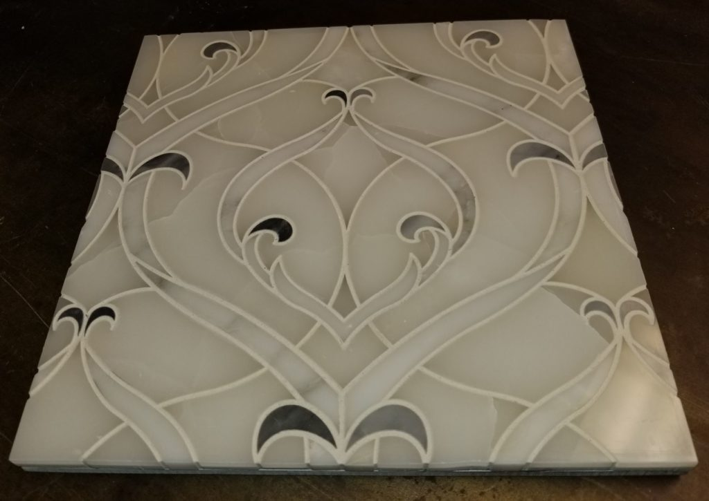 Custom Intricate Marble Stone Inlay Detail ENSO