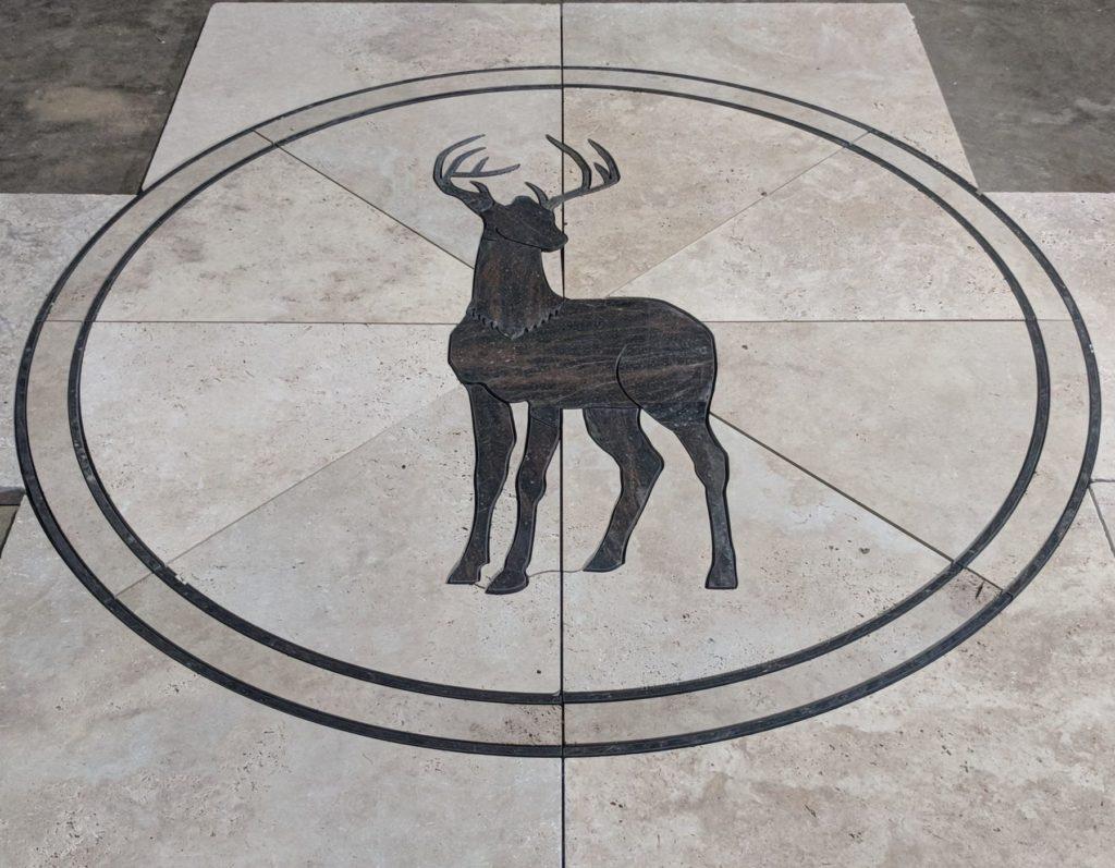 Stone Medallion Black Stag Limestone ENSO