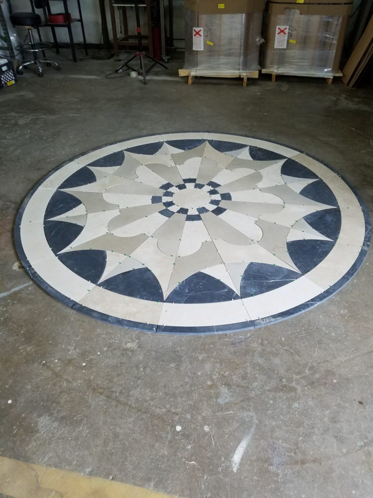 Stone Medallion Inlay Materials Marketing ENSO