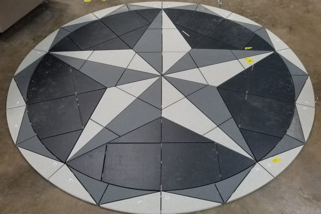 Stone Medallion Star Waterjet Cut ENSO