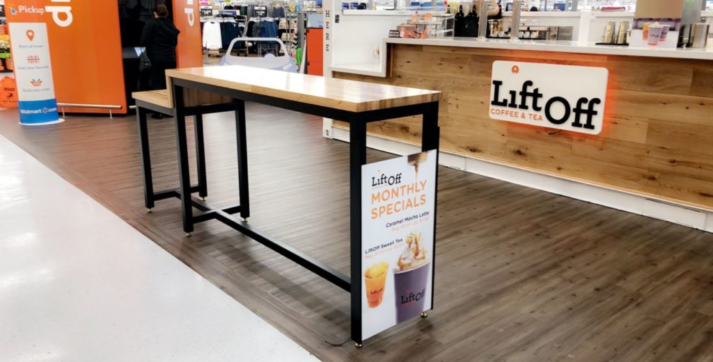 Walmart Liftoff Butcher Block Table ENSO