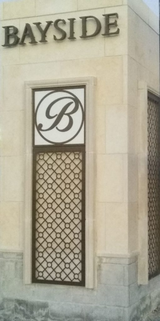 Decorative Metal Screen Bayside Stone Signage ENSO