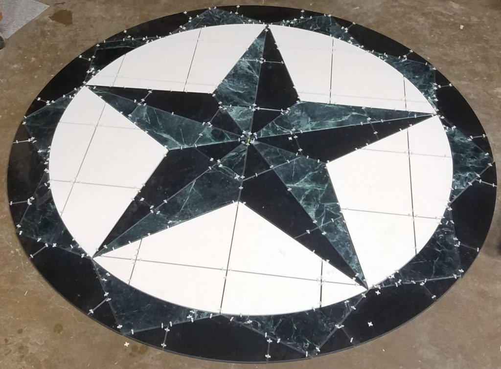 Stone Medallion Star Marble Tile Fabrication ENSO