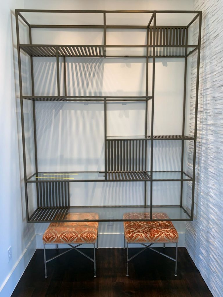 Metal Shelf Contemporary Floating Installed ENSO