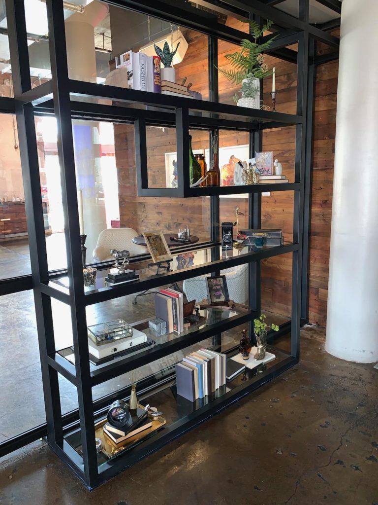 Metal Shelving Contemporary Canvas Restaurant Dallas ENSO