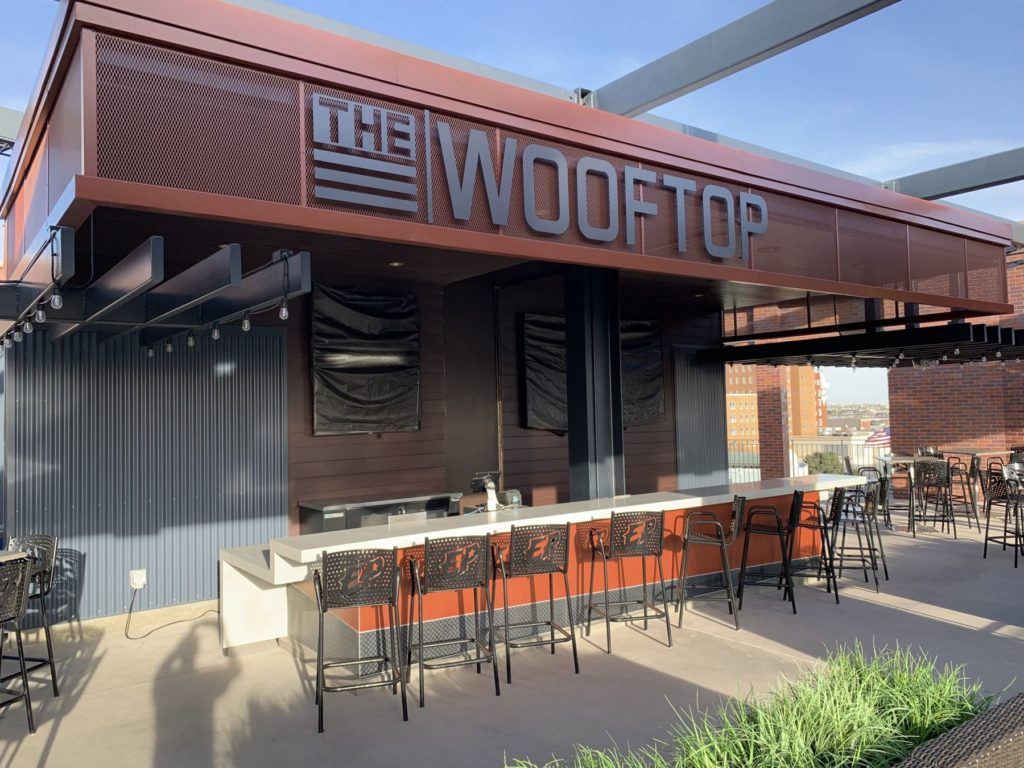 Metal Signage Cage The Wooftop Bar ENSO