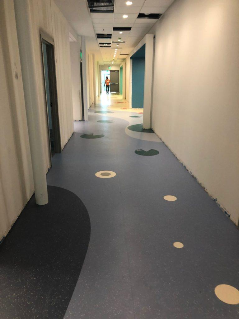 VCT Flooring Pacman Hockaday Hallway ENSO