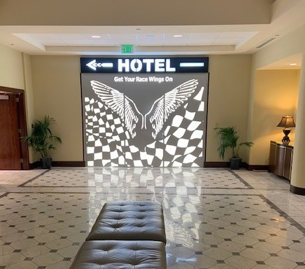 Signage Hotel Versey Race Wings ENSO