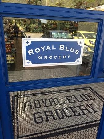 Signage Tile Mosaic Royal Blue Grocery ENSO