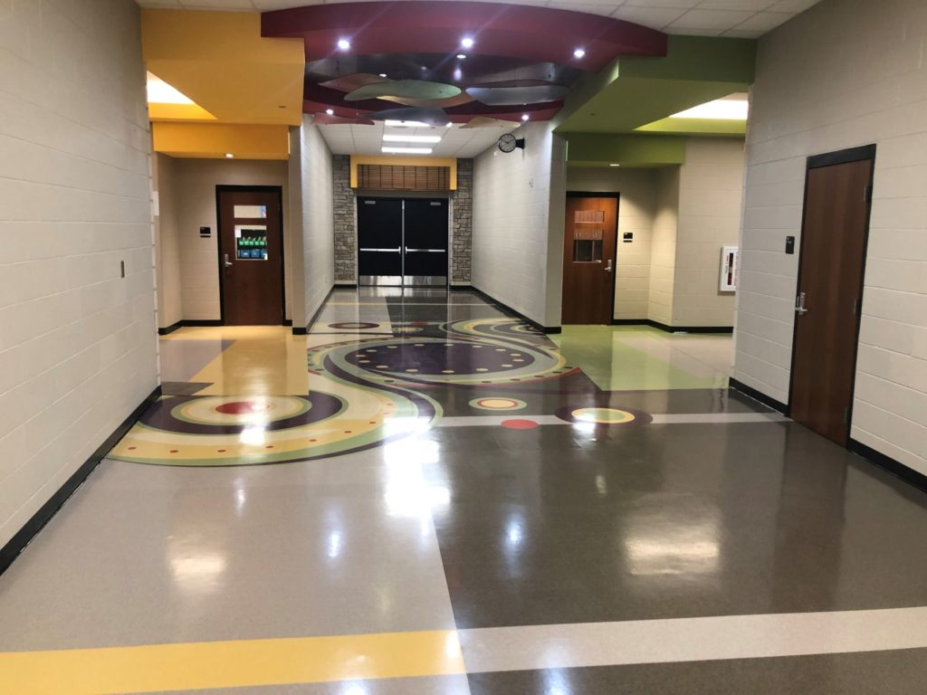 VCT Frontier Elementary Waterjet Lobby ENSO
