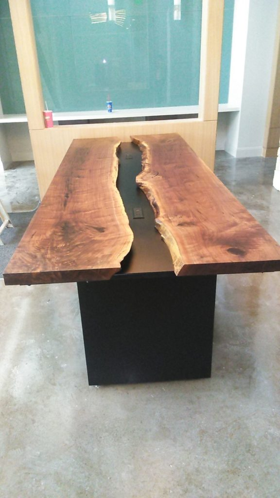 Live Edge Slab Conference Table Installation ENSO