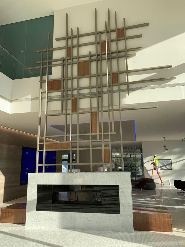 Metal Wall Sculpture Gensler Lobby View ENSO