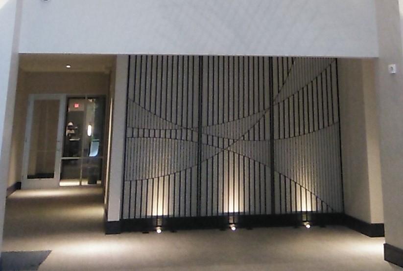 Decorative Metal Panel Kumiko Modera Hall Close View ENSO
