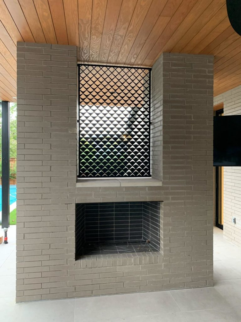 Decorative Metal Screen Fireplace Apex Fade ENSO