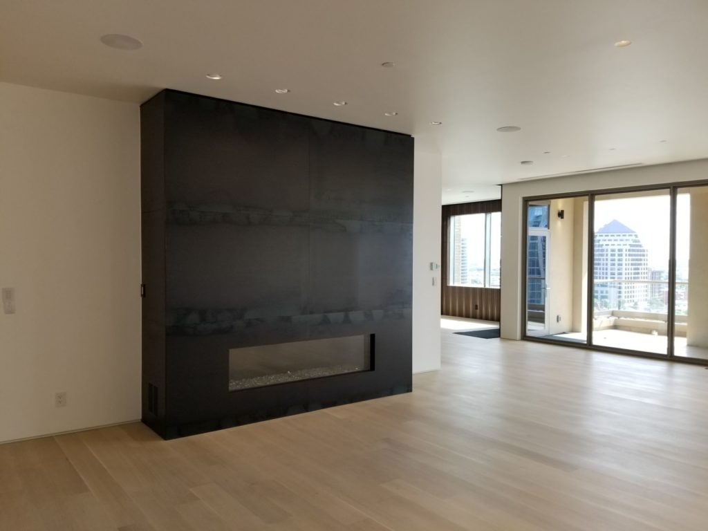 Cold Rolled Steel Metal Fireplace George Condo ENSO