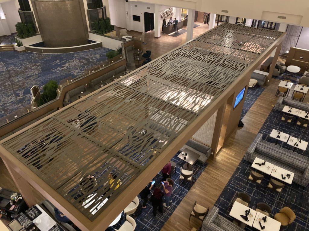 Decorative Metal Screen Arbor Bar Marriott ENSO